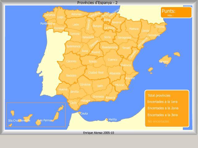 Mapa Interactiu Provincies Espanya.El Raconet De 6e Provincies D Espanya