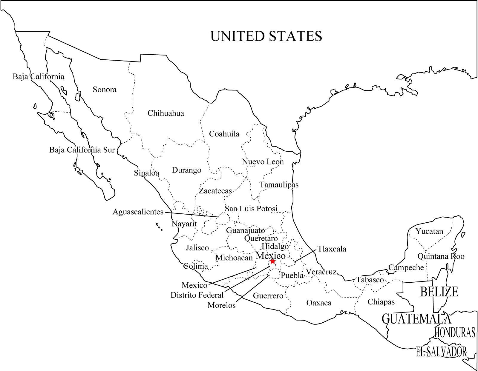 Mapa de Mexico Por Estados y Municipios Mapa de Estados de México