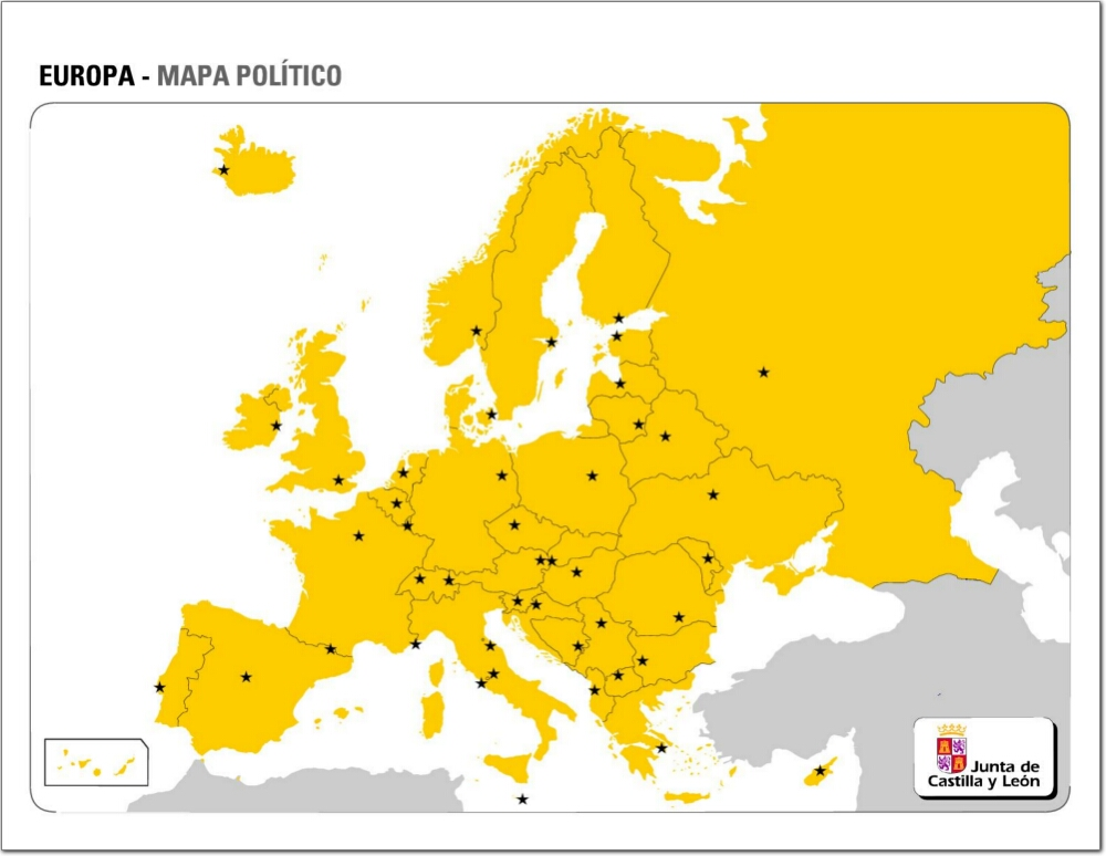 Mapa interactivo de Europa Ciudades de Europa Junior. Juegos ...