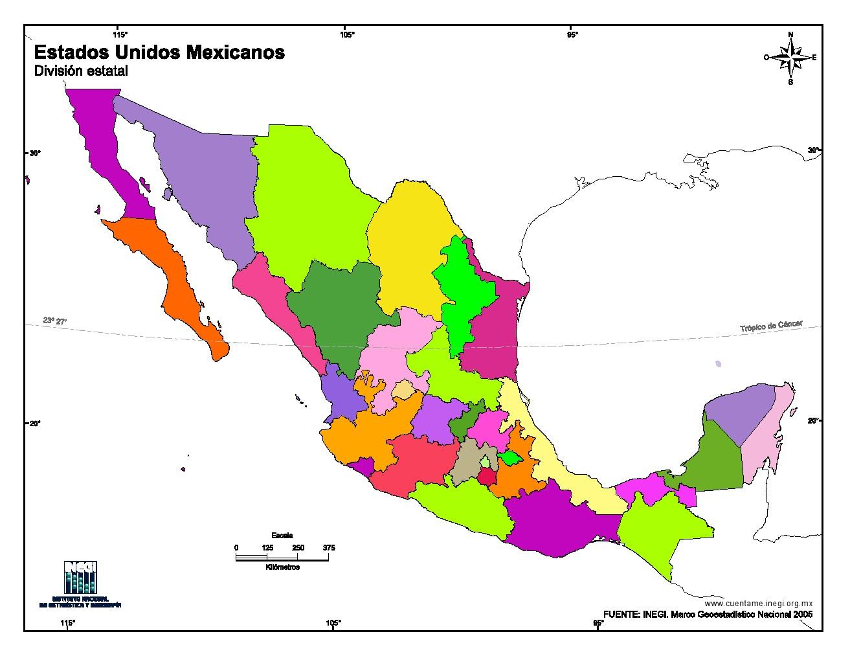 Mapa De Mexico Rompecabezas