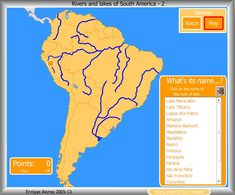 Rivers lakes of South America What 39 s the name Enrique Alonso