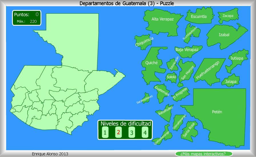 Mapa Guatemala Departamentos