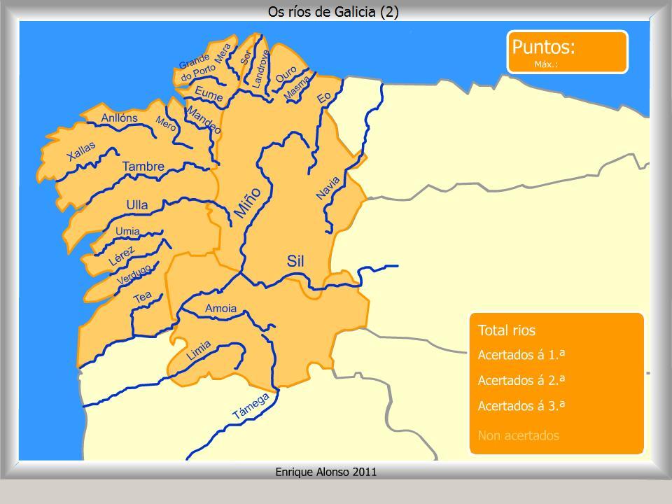 Mapa Rios Galicia  My blog