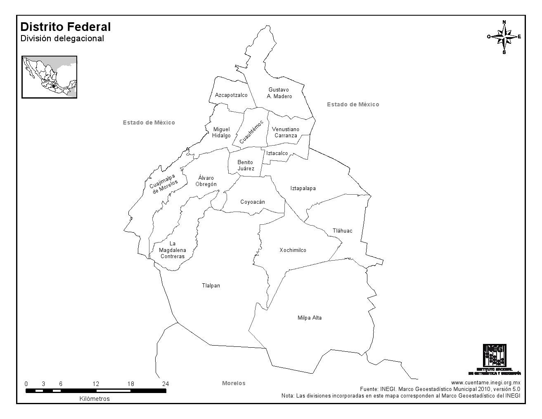 Ciudad Nezahualcoyotl Mapa Mapa de Municipios de Ciudad