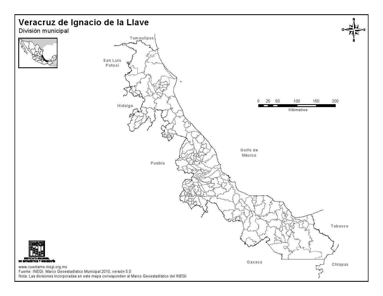 inegi municipios: