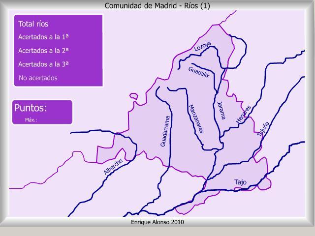 mapa interactivo de madrid r os de la comunidad de madrid