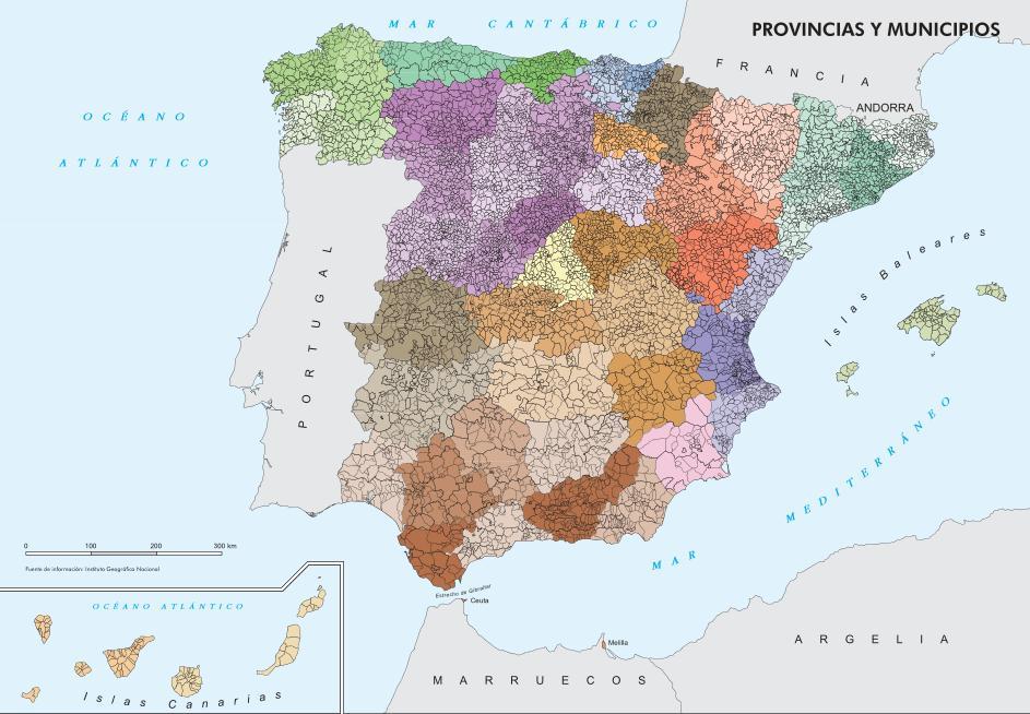 Provincias Barcelona Mapa Mapa de Provincias y