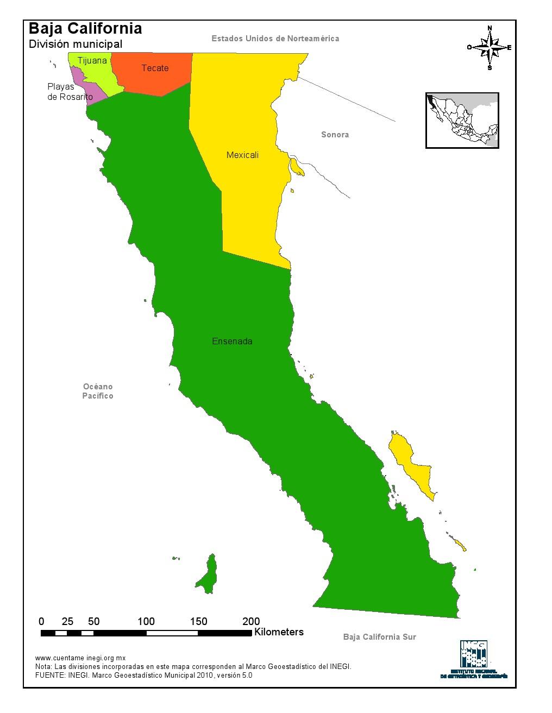 municipios baja california: