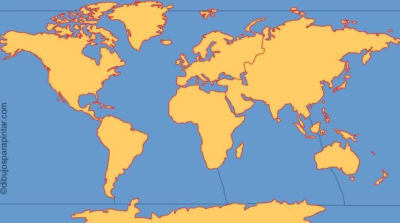 Mapa interactivo del Mundo Continentes y océanos del mundo ...
