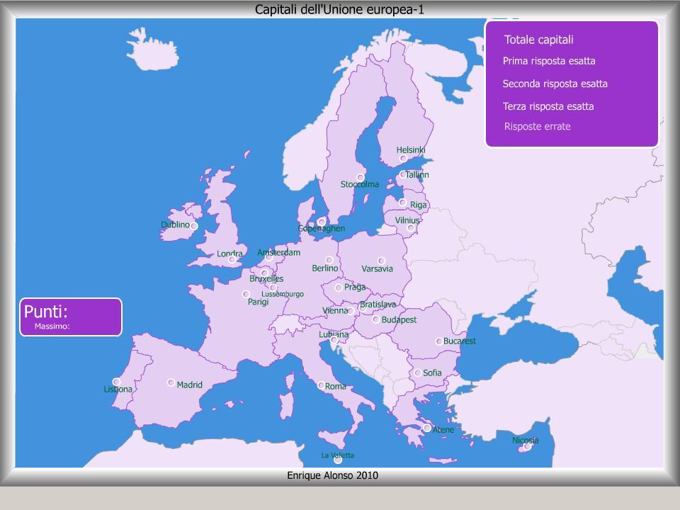 Mappa interattiva dell 39 europa capitali dell 39 unione europea for Arredo ingross 3 dove si trova