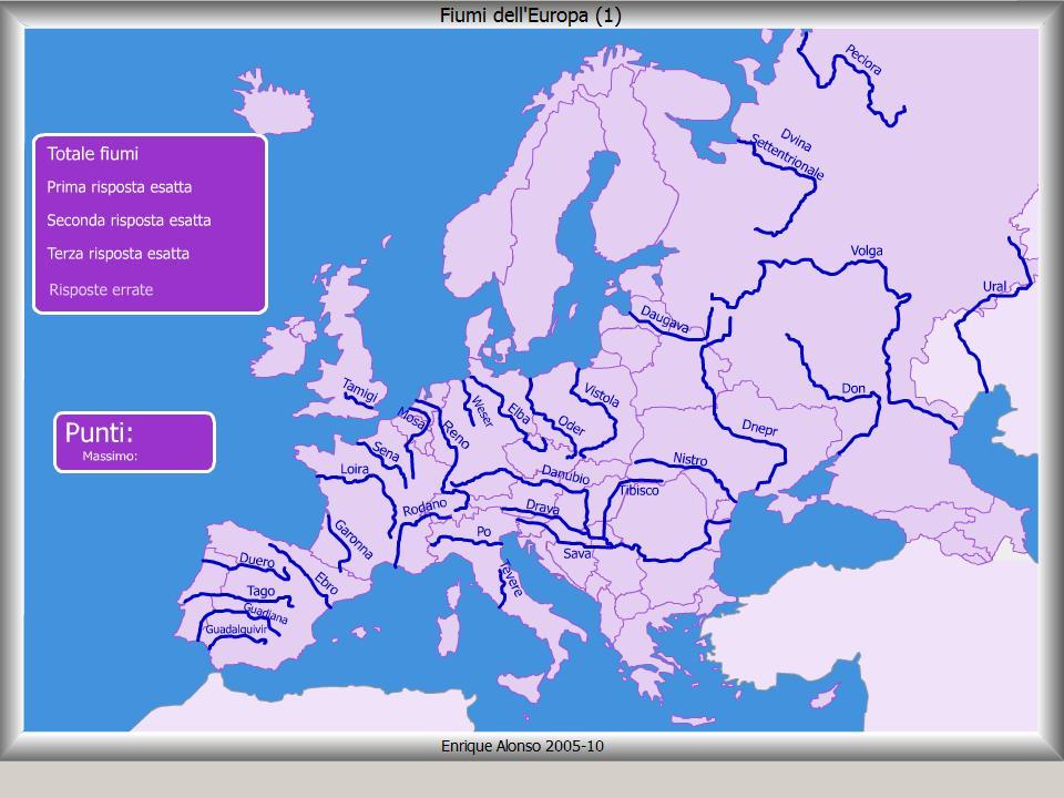 Mappa interattiva dell 39 europa fiumi dell 39 europa dove si for Arredo ingross 3 dove si trova