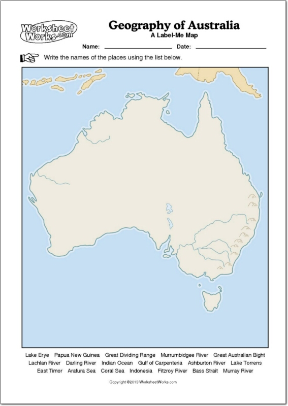 Bonito Australia Para Colorear Imprimible Ilustración - Ideas Para ...