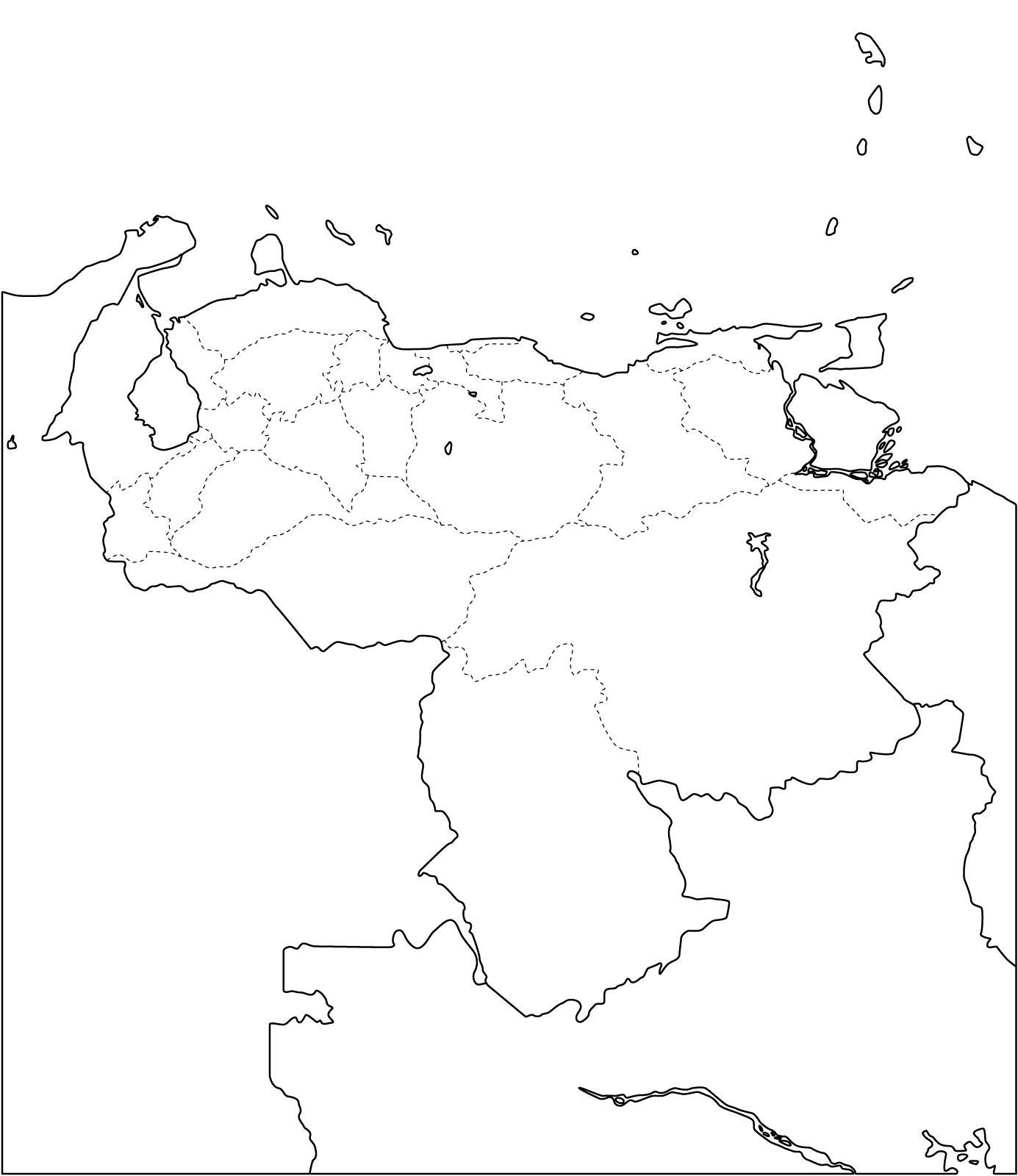 Mapa político mudo de Venezuela para imprimir Mapa de estados de ...
