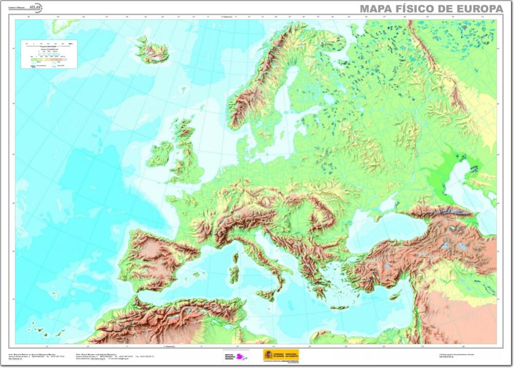 Mapa Fisico Europa Mudo.Geografia Europea Lessons Tes Teach
