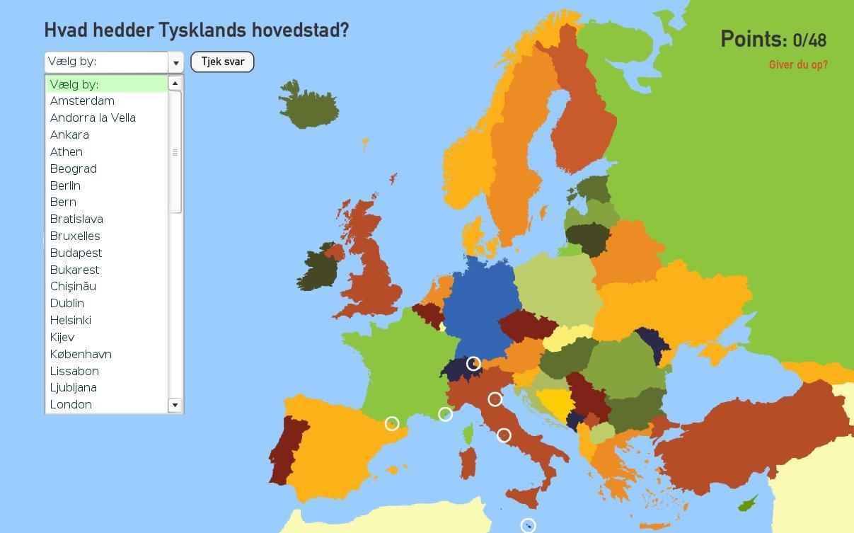 europa hovedstæder