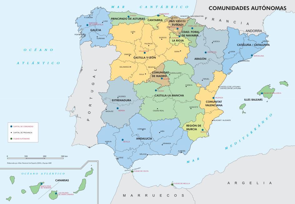 Mapa interactivo de España Comunidades Autónomas de España. ¿Dónde ...