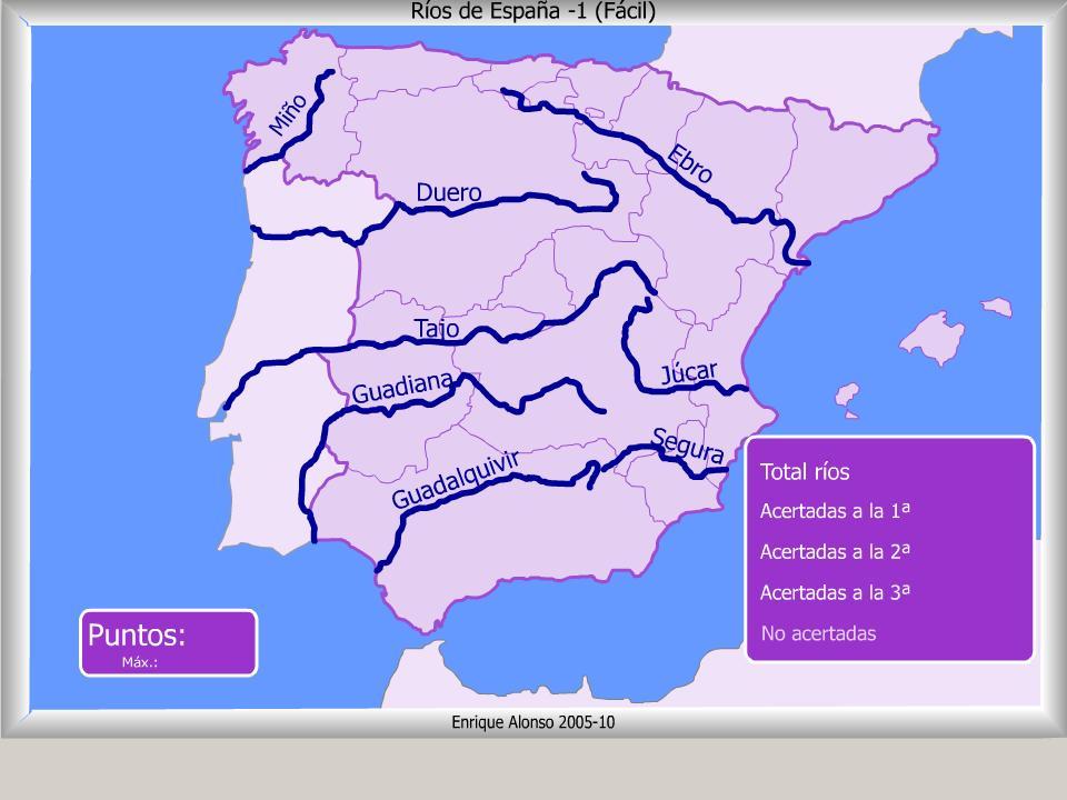 Mapa Interactivo De Espa A R Os De Espa A D Nde Est
