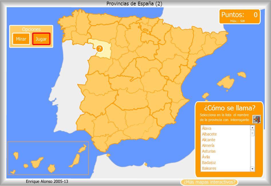 Mapa Flash Provincias Espana.Espana Mapa Politico Comienzosexto Webnode Es