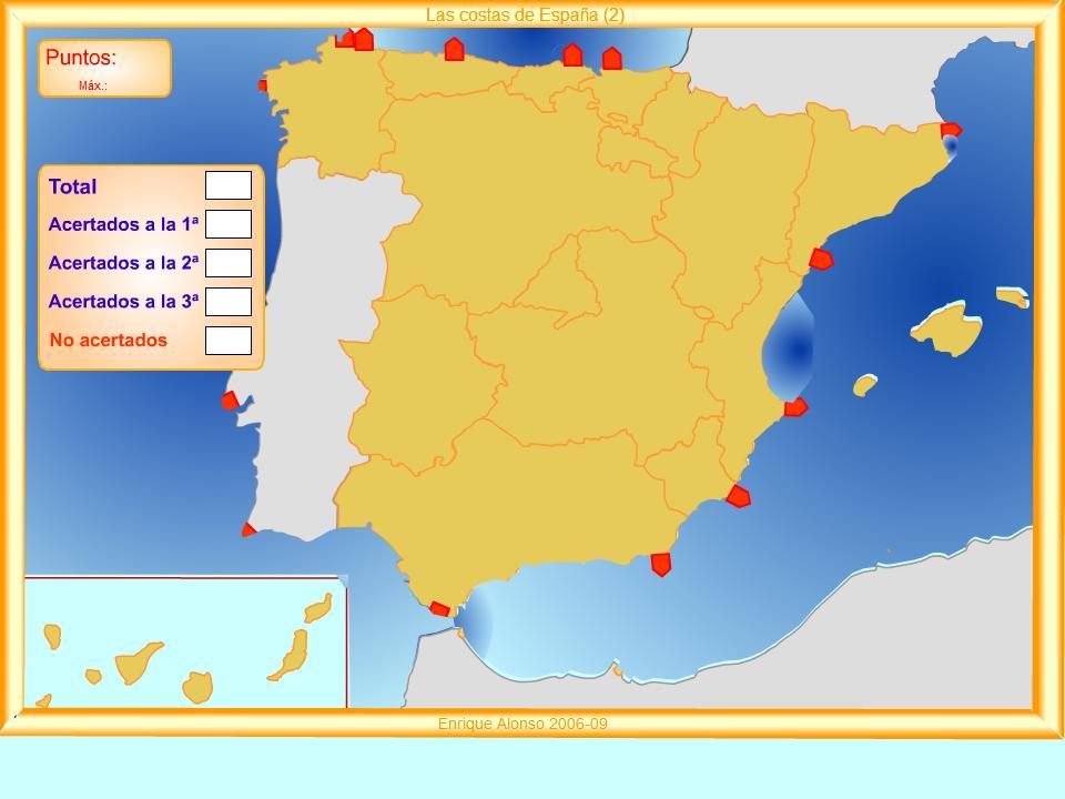 Cabos De España Mapa Interactivo.Mi Cole En La Red Mapas Fisicos De Espana Interactivos