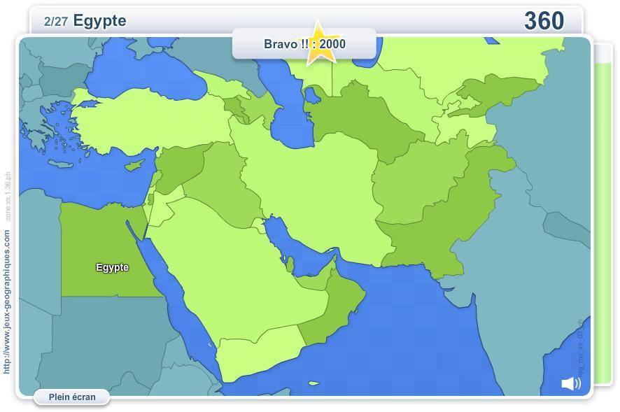 Carte interactive du Moyen Orient, Caucase et Asie ...