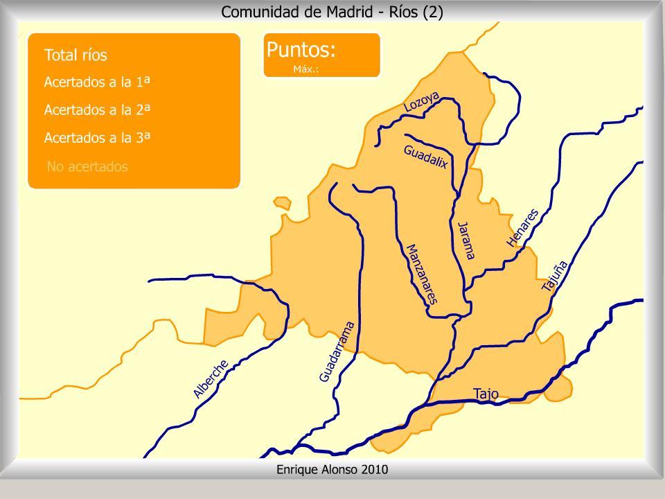 Mapa interactivo de Madrid Ríos de la Comunidad de Madrid. ¿Cómo ...