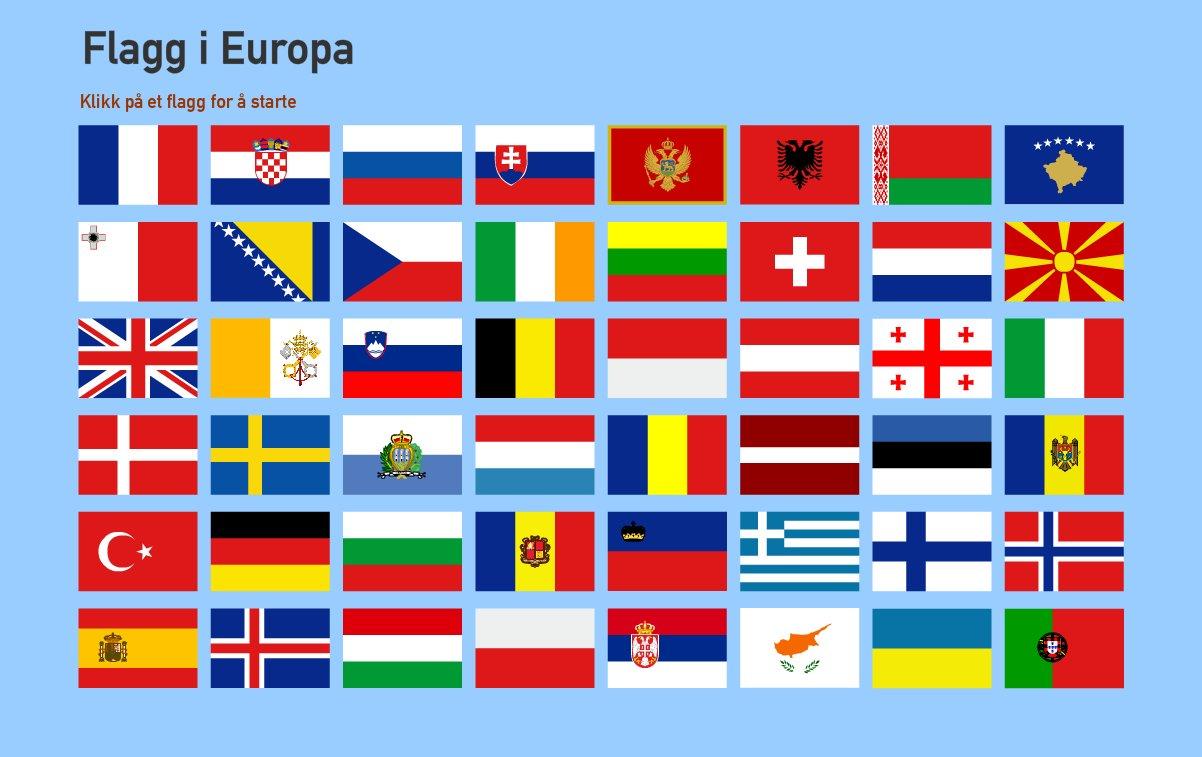 Flagg i europa test