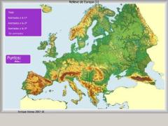 Relieve de Europa. ¿Dónde está?