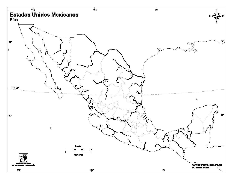 Rios Mapa De Mexico