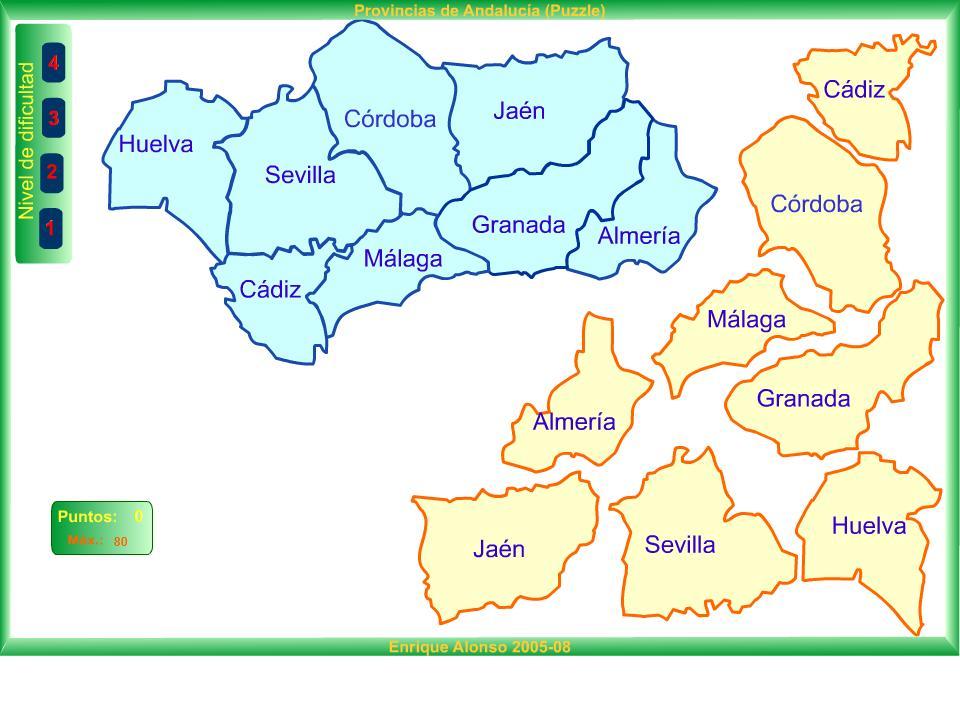 Mapa De Andalucia Provincias  My blog