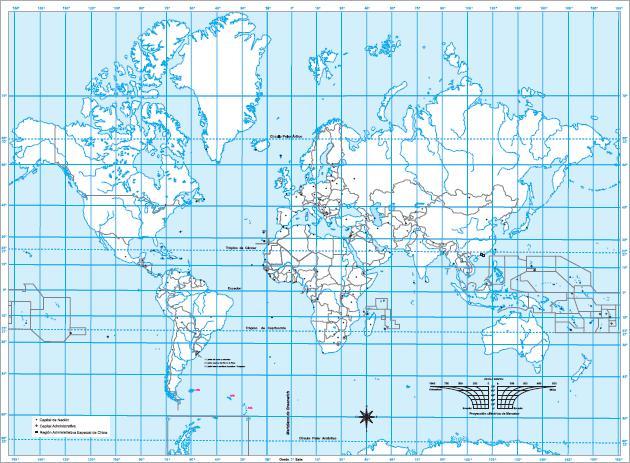 Mapa para imprimir del Planisferio Mapa mudo del Planisferio. IGN ...