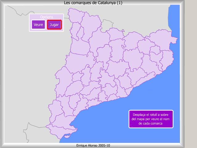 Comarques de Catalunya. On és?