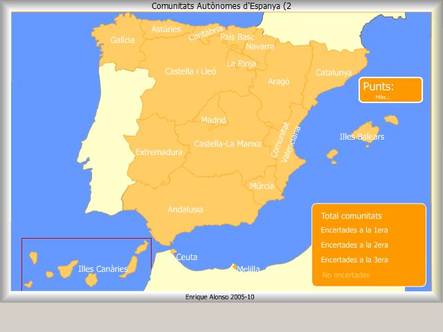 Resultado de imagen de comunitats autonomes d'espanya flash