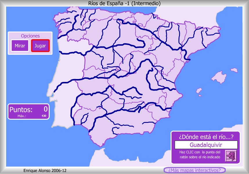 TRABAJOS DE NURIA Mapa interactivo de los rios de Espaa intermedio