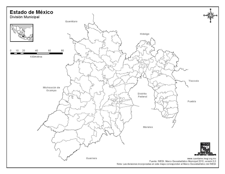 Mapa Del Estado De Mexico Con Nombres