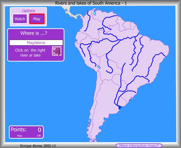 Rivers lakes of South America Where is Enrique Alonso