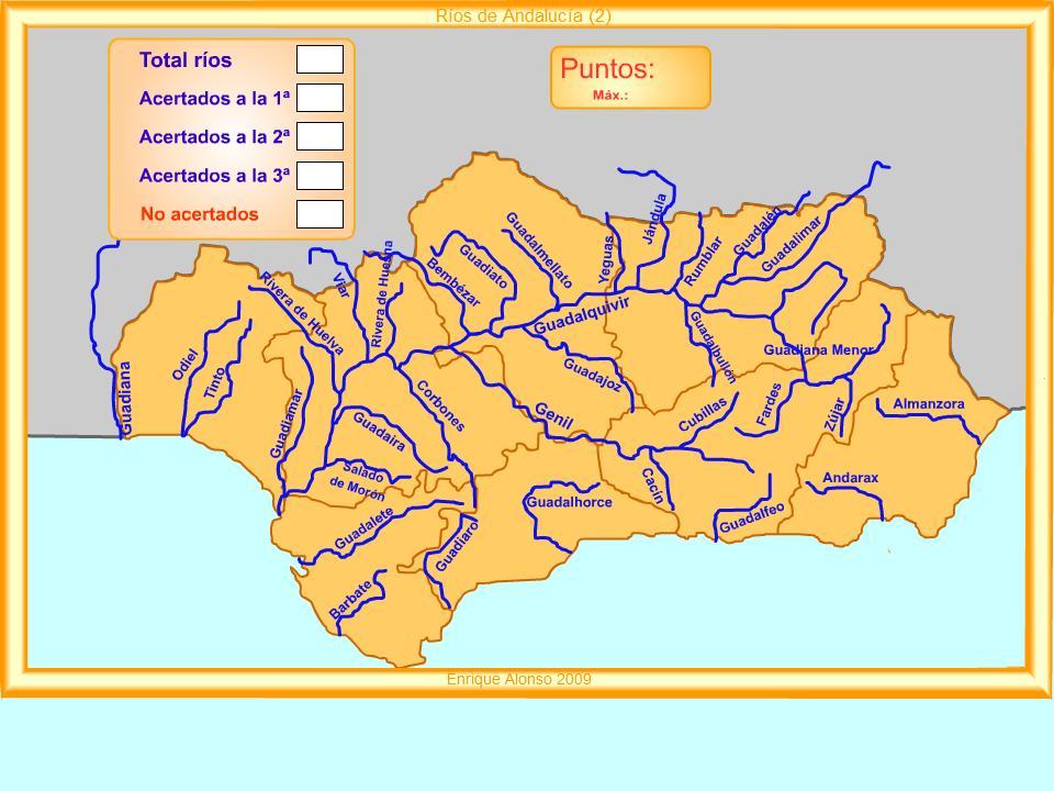 Mapa Rios De Andalucia.Segundo Ciclo De Primaria Mª Santos Mapa Interactivo De Rios De Andalucia