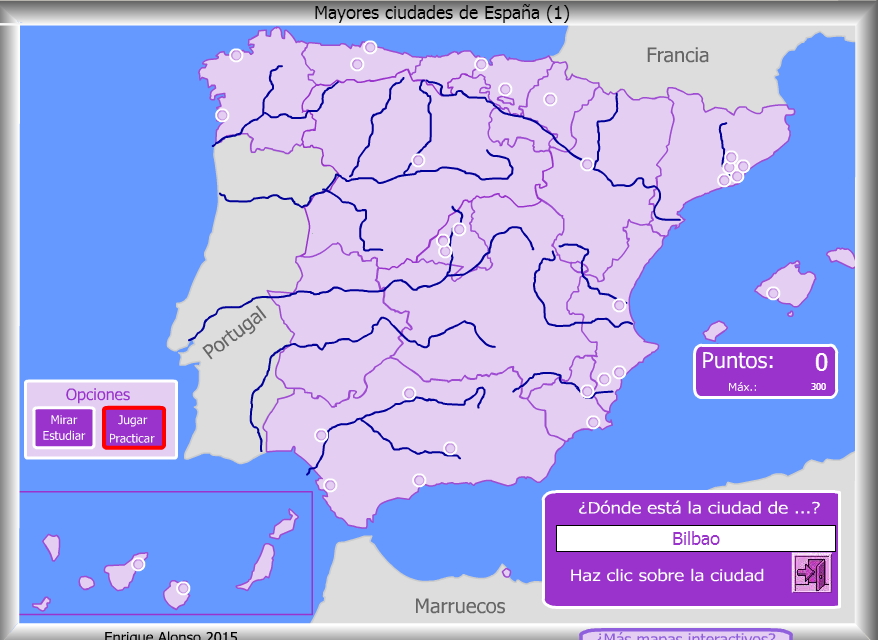 Mapa Interactivo De Espa A Mayores Ciudades De Espa A