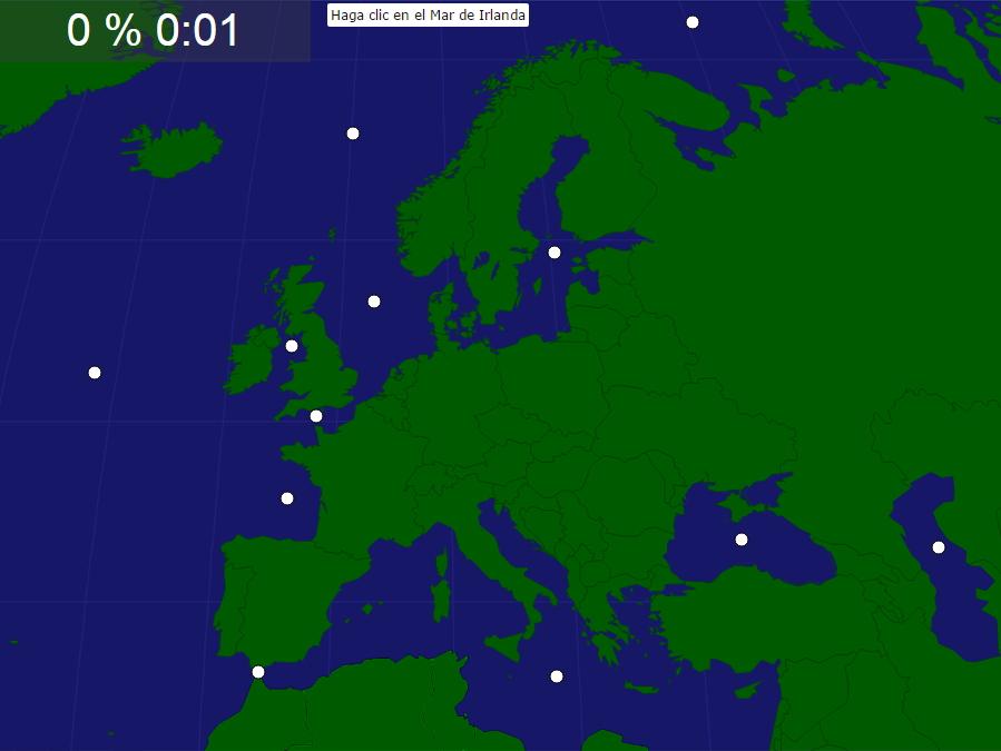 Mapa Para Jugar Dónde Está Continentes Y Océanos: Mapa Interactivo De Europa Mares Y Océanos De Europa