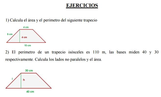 Perímetros y áreas de figuras planas
