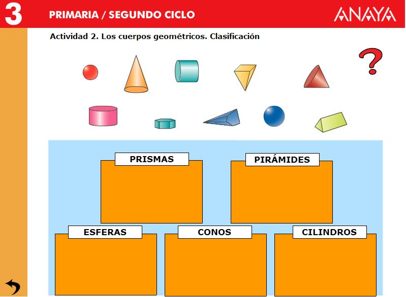 Objetos y formas geométricas. Los cuerpos geométricos