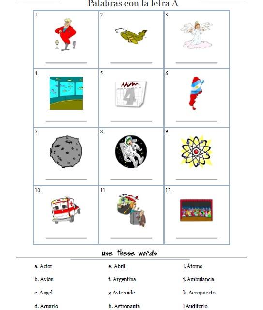 Tag > letra a - Didactalia: material educativo