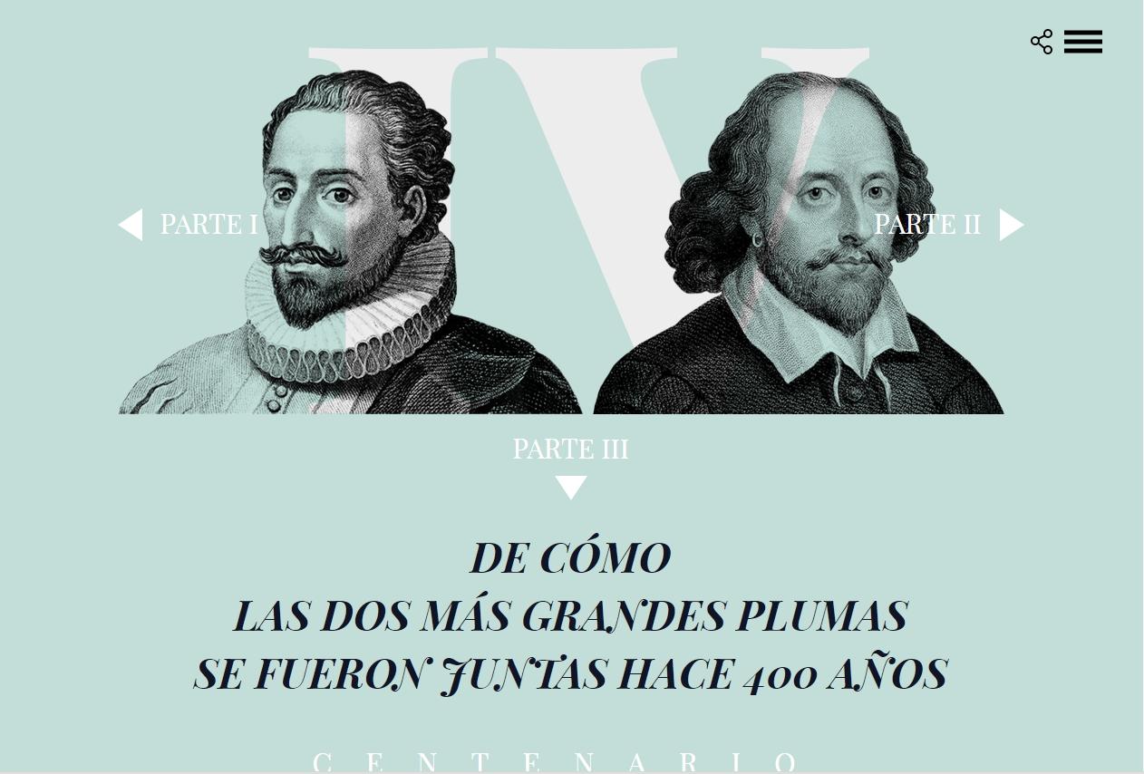 Cervantes y Shakespeare en el IV centenario de su muerte. El País