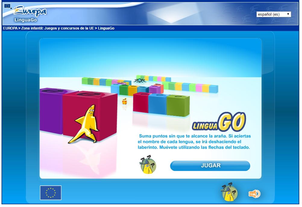 LinguaGO: juego del laberinto de las lenguas