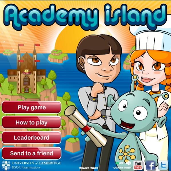 Academy Island game (Cambridge English)