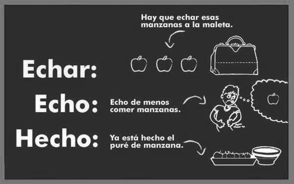 Echo, echa, echas / hecho, hecha, hechas (Real Academia Española)