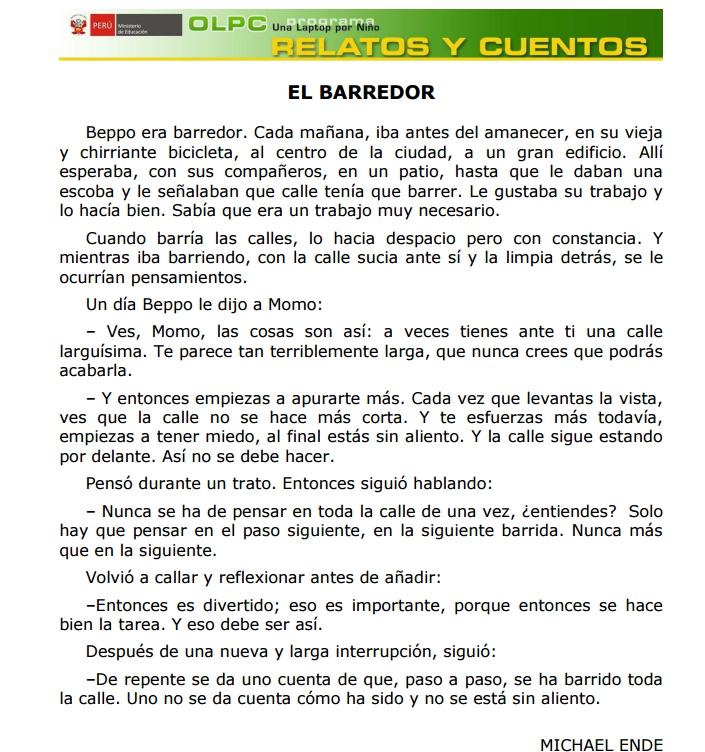 El Barredor (PerúEduca)