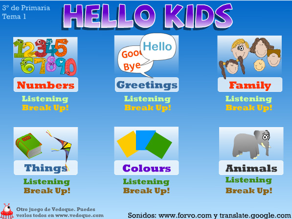 Hello kids (vedoque.com)