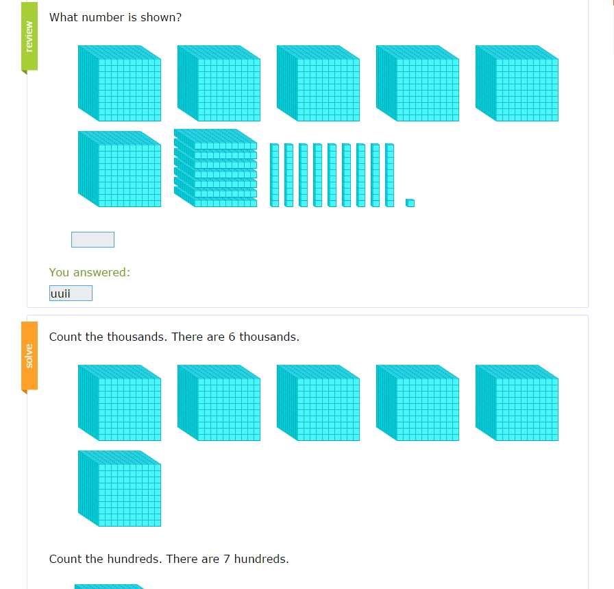 Place values: thousands	hundreds	tens	units ( IXL Learning)