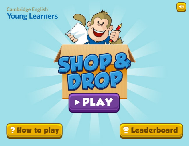 Shop & Drop Learning Game (