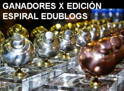 Ganadores del X Premio Espiral Edublogs